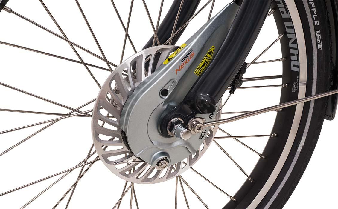 Cargo bike rollerbrakes