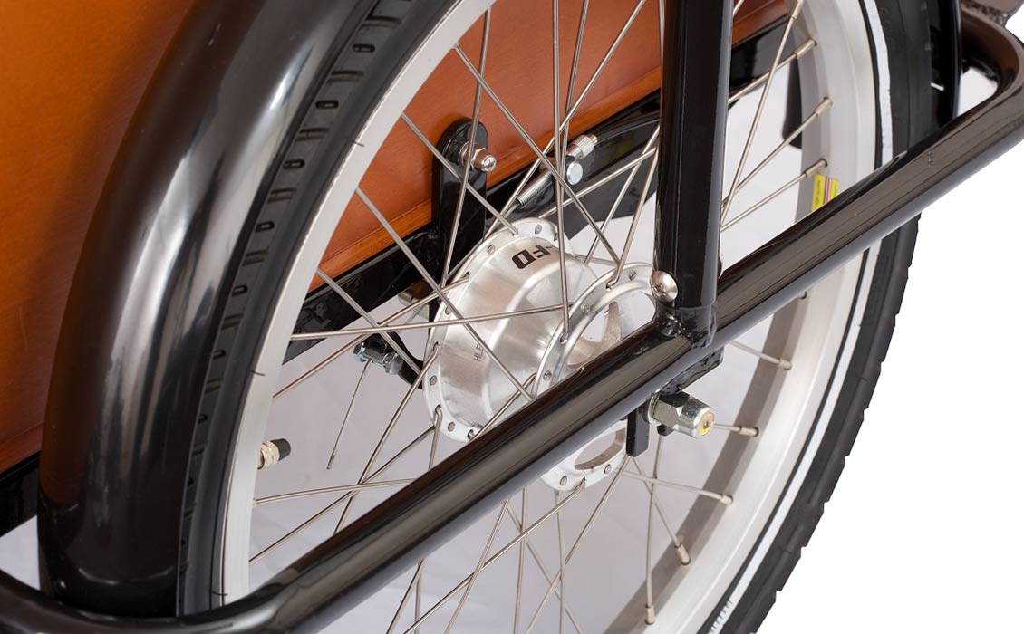Cargo bike drum brakes