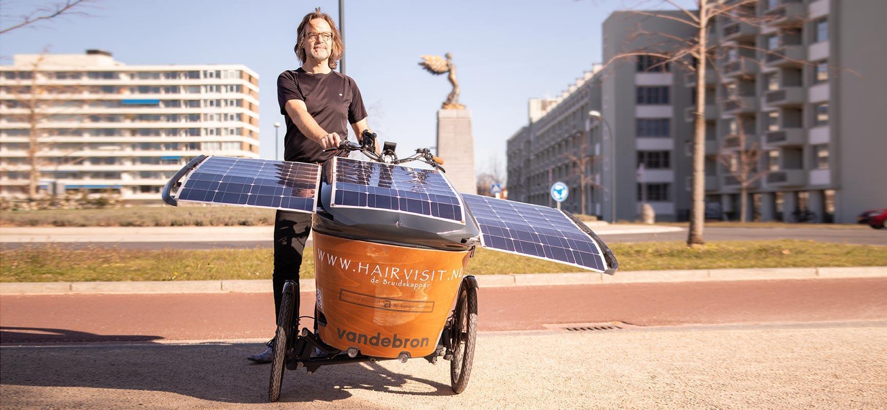 Riding with a solar cargo bike to Glasgow