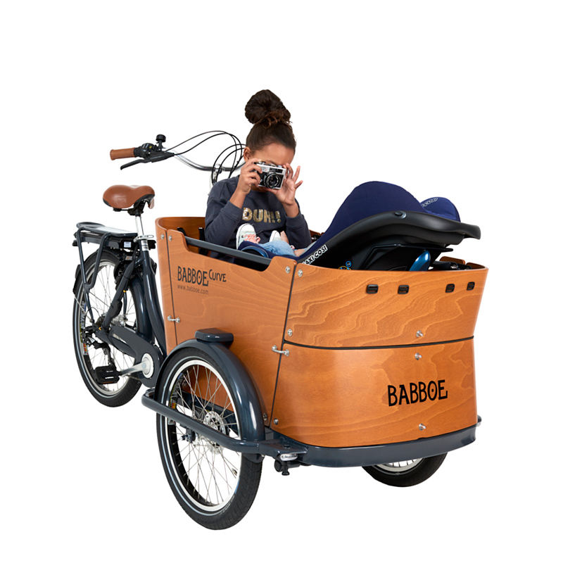 Contemporary electric three-wheel cargo bike