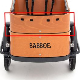 Babboe front panel top Curve wood