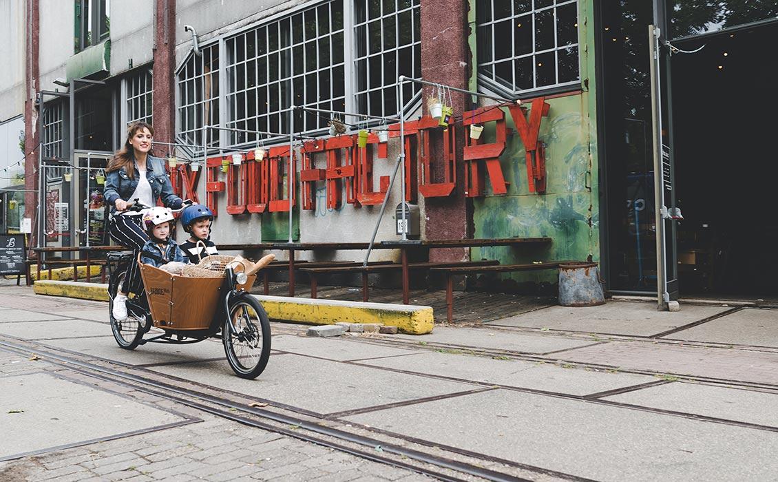 Manoeuvrable cargo bike